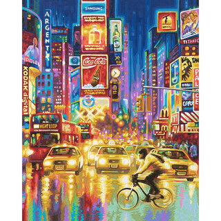 New York Times Square Schipper Malen Nach Zahlen Meisterklasse